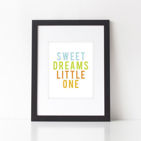 nursery wall prints: sweet dreams - key lime pie