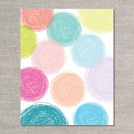 prints & graphics: scribble circles