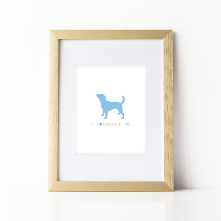 wall prints: the dog stole our heart - ocean