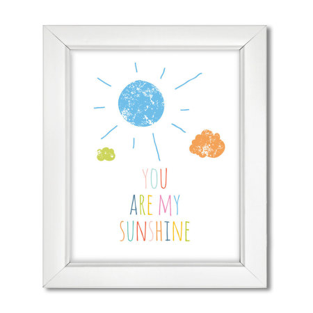 nursery wall art: you are my sunshine - rainbow