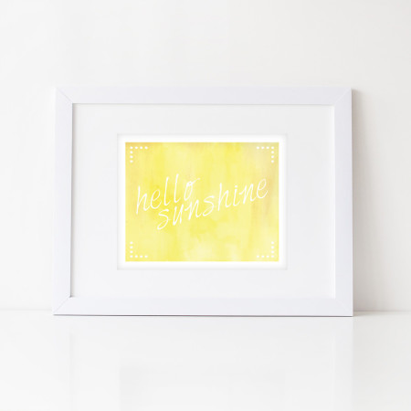 nursery art prints: hello sunshine