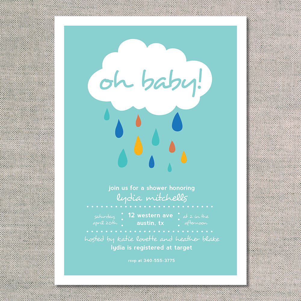 Colorful Baby Shower Invitations with adorable invitation sample