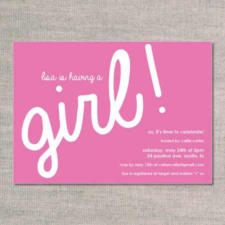baby shower invitations: it's a... - flamingo - front