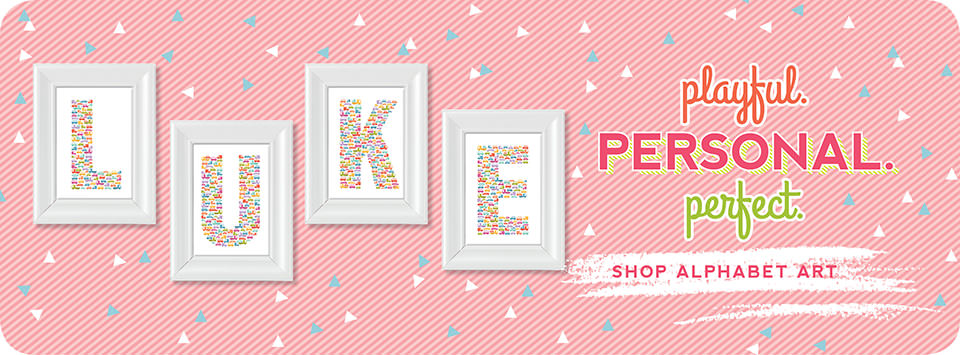 uh oh pasghettio nursery decor: shop alphabet art