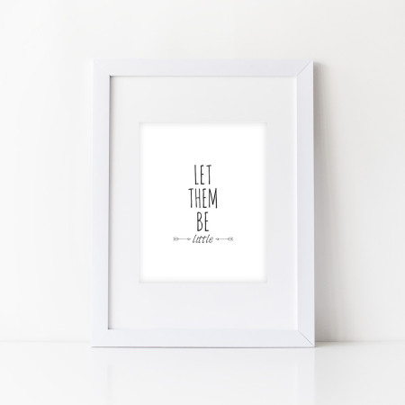 nursery wall prints: let them be little - black