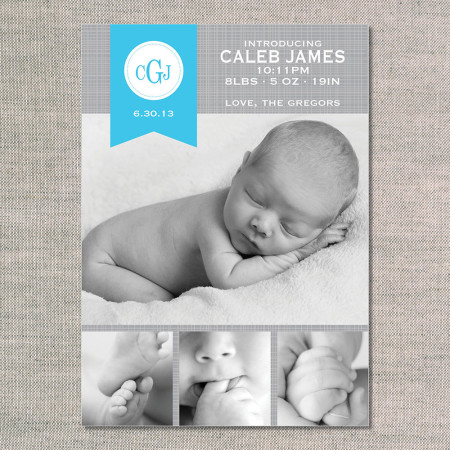 birth announcements: the caleb - front - ocean