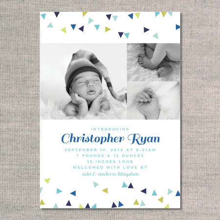 birth announcements: the christopher - front - ocean