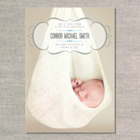 birth announcements: the connor - front - ocean