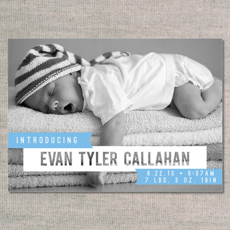 birth announcements: the evan - front - ocean