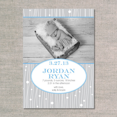 birth announcements: the jordan - front - ocean