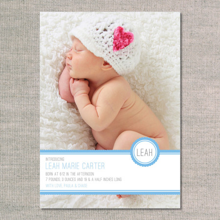 birth announcements: the leah - front - ocean