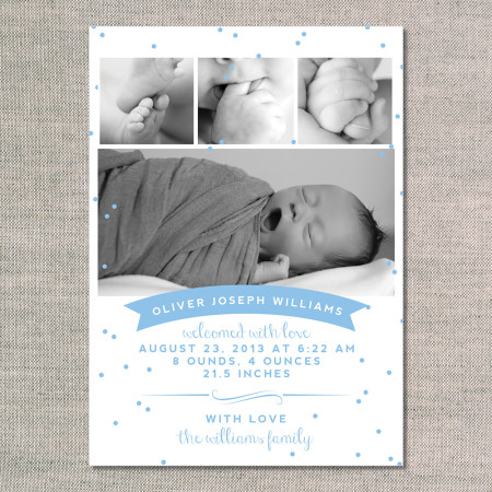 birth announcements: the oliver - front - ocean