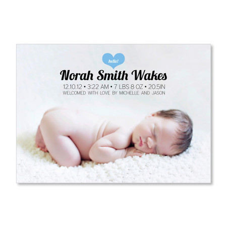 birth announcement: the norah - ocean - front