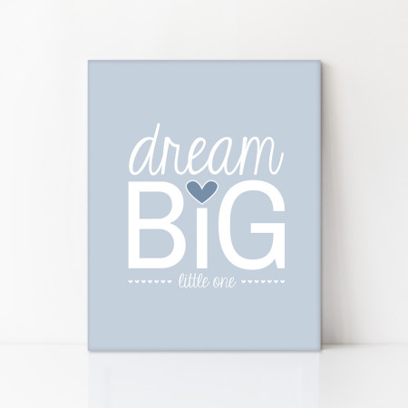 nursery canvas art: dream big little one - cloud