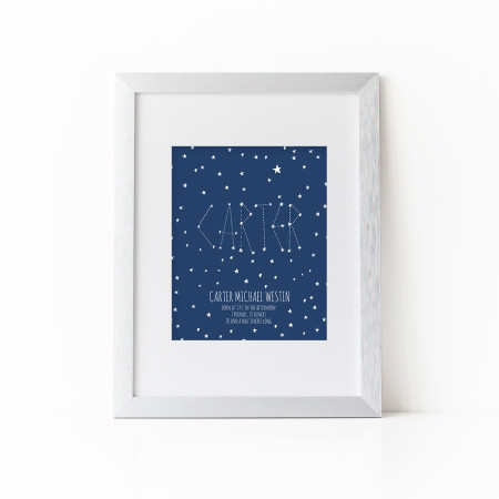 birth info print: starry night - midnight