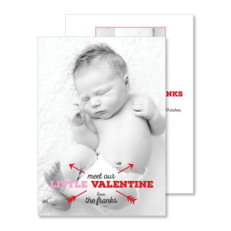 valentine's day birth announcement: the willow - stacked