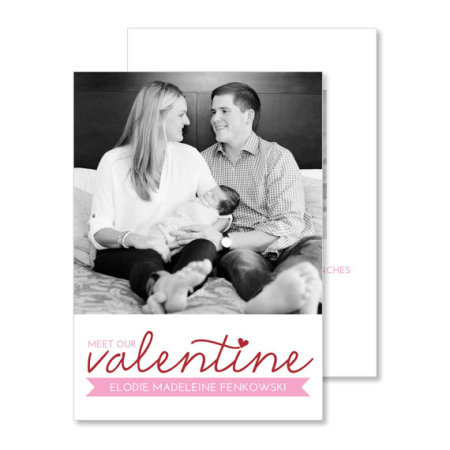 valentine's day birth announcement: the elodie - stacked