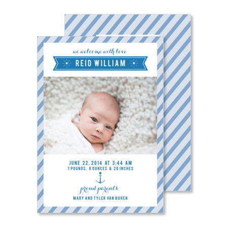 birth announcement: the reid - stacked