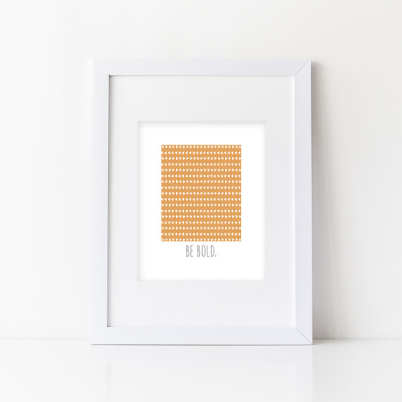 wall art: be bold - tangerine