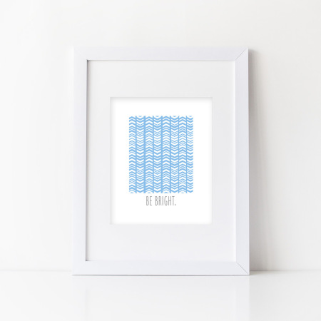 wall prints: be bright - ocean