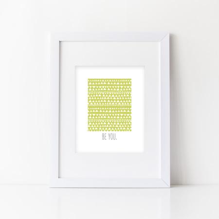 wall prints: be you - kiwi