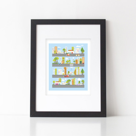 wall prints: cityscape