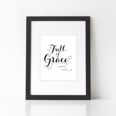 wall prints: full of grace