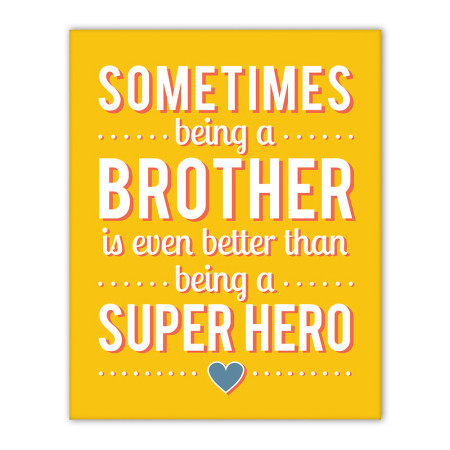 canvas art: being a brother - sunshine