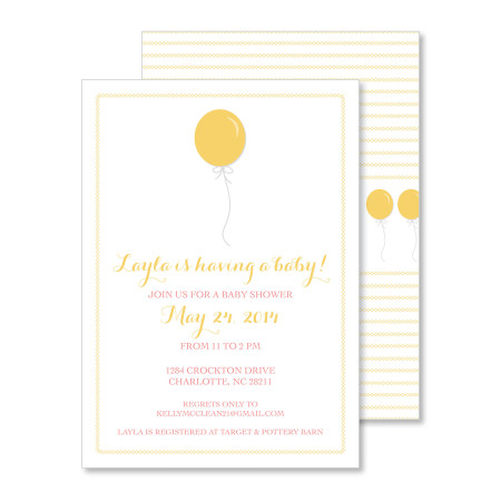 baby shower invitation: float on - curry - stacked