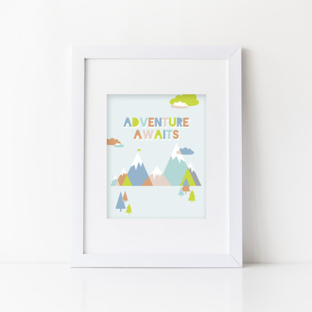wall prints: adventure awaits