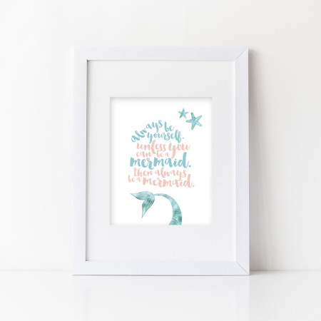 wall prints: be a mermaid