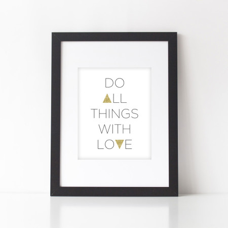 wall prints: do all things with love