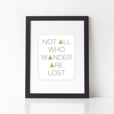 wall prints: not all who wander are lost