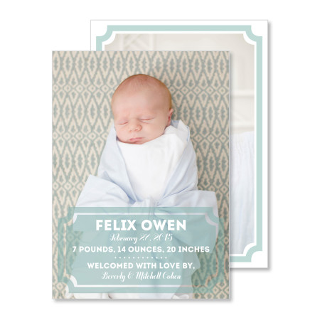 birth announcement: the felix - stacked