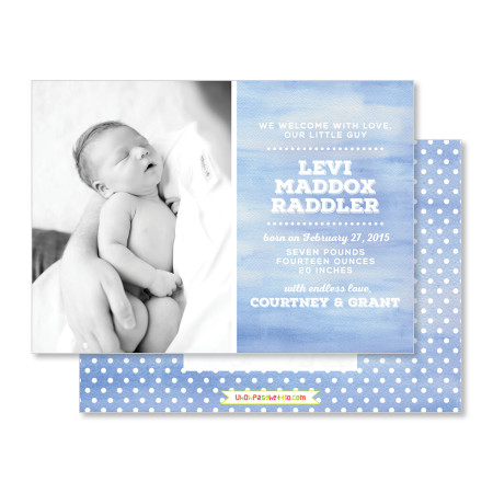 birth announcement: the levi - stacked