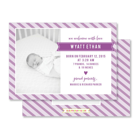 birth announcement: the wyatt - violet - stacked