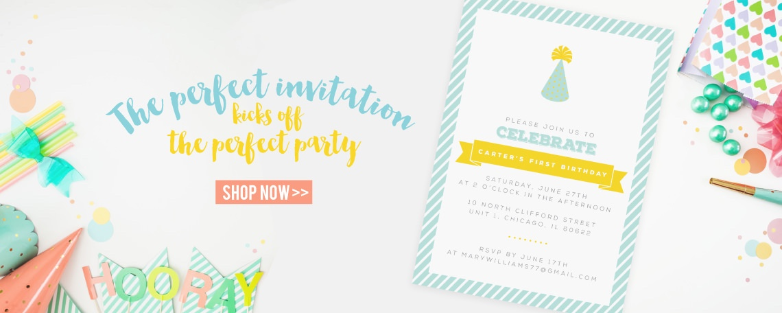 the perfect birthday invitations for the perfect party