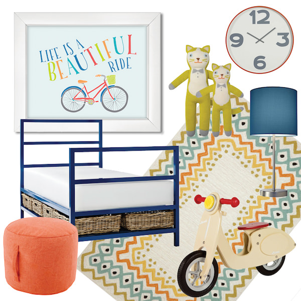 toddler and big kid's bedroom ideas: life is a beautiful ride theme