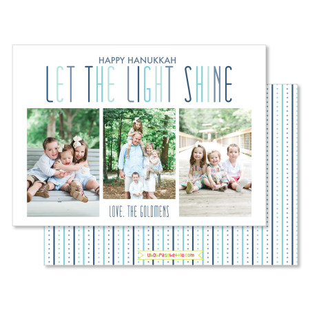hanukkah card: let the light shine - stacked