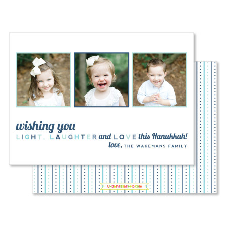 hanukkah card: wishing you - stacked