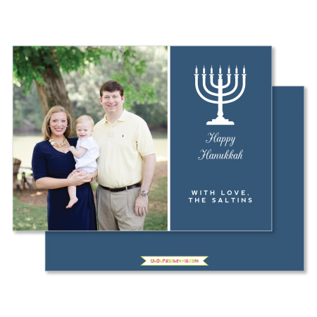 hanukkah card: happy hanukkah card - stacked