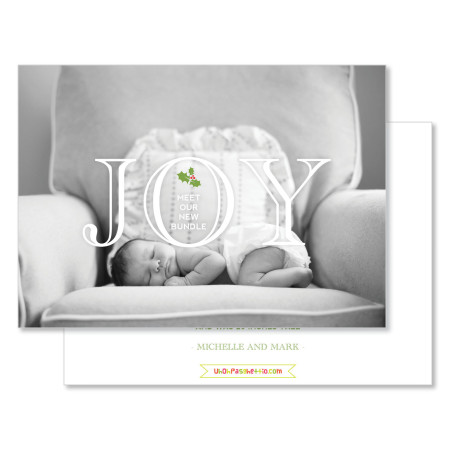 holiday birth announcement: meet our bundle - stacked