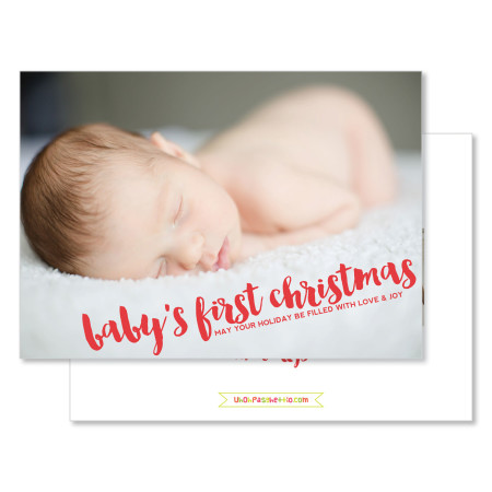 christmas card: baby's first christmas - stacked