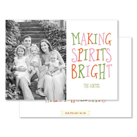 holiday card: making spirits bright - stacked