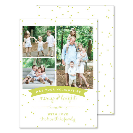 christmas card: merry and bright - stacked