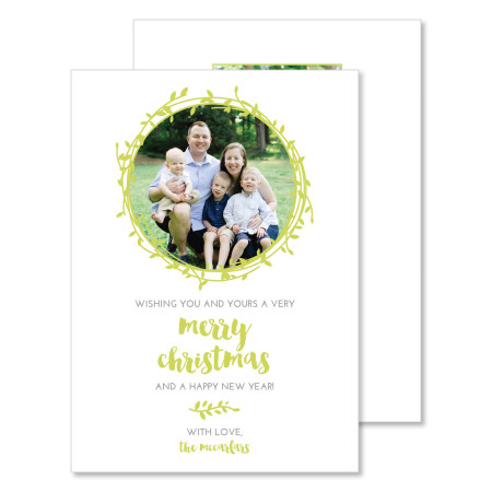 christmas card: merry christmas - stacked
