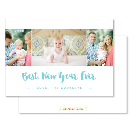 new year's card: best new year ever - stacked