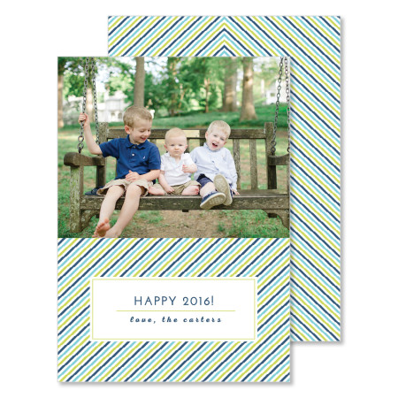 new year's card: happy 2016 - stacked
