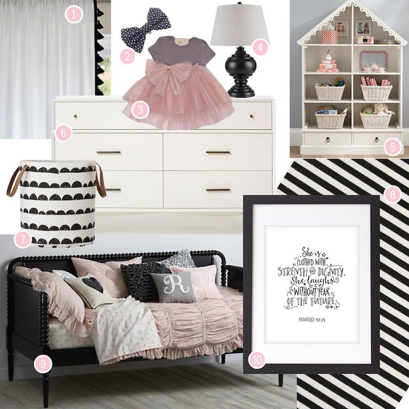 design inspiration: strength and dignity girl toddler room
