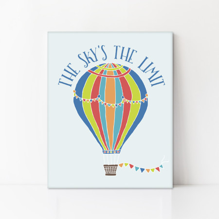 kid's canvas art: the sky's the limit - red